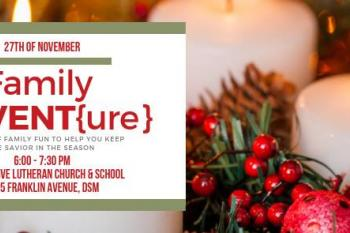 Join us for a FREE night of family fun preparing for Advent